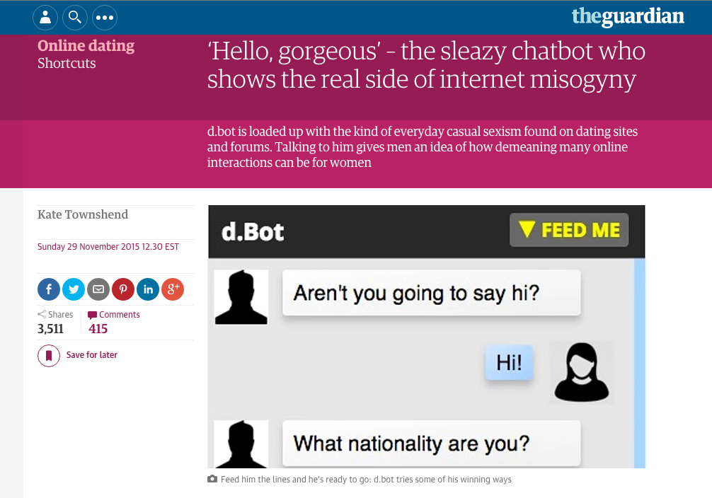 Dating site bots
